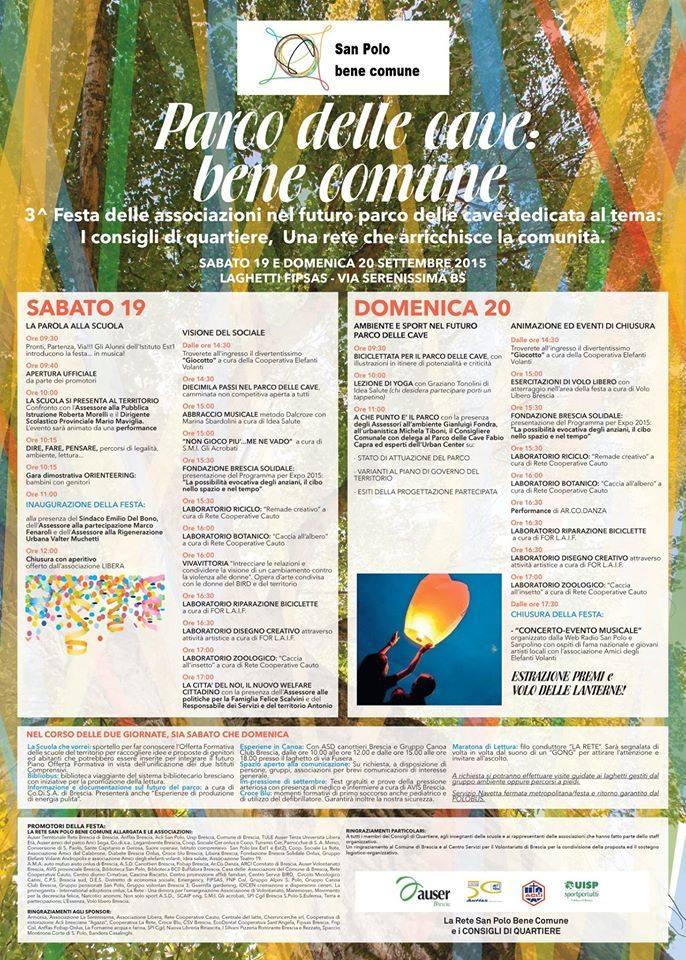 PARCO DELLE CAVE BENE COMUNE: LA TERZA FESTA