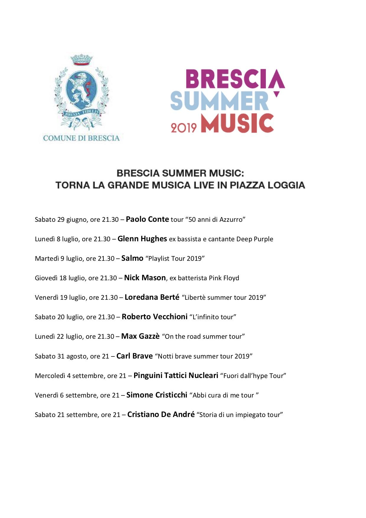 L'ESTATE IN MUSICA DEI BRESCIANI